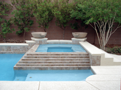 pool spa water features gallery